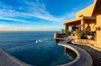 "One look at this spacious <a href=""https://www.cntraveler.com/stories/2016-05-13/top-things-to-do-in-los-cabos-mexico?mbid=synd_yahoo_rss"" rel=""nofollow noopener"" target=""_blank"" data-ylk=""slk:Cabo San Lucas"" class=""link rapid-noclick-resp"">Cabo San Lucas</a> home—12 guests can sleep across six bedrooms—is enough to make us want to plan a <a href=""https://www.cntraveler.com/gallery/best-airbnbs-for-family-reunions?mbid=synd_yahoo_rss"" rel=""nofollow noopener"" target=""_blank"" data-ylk=""slk:family reunion"" class=""link rapid-noclick-resp"">family reunion</a>. It almost doesn't matter what's inside: you'll want to spend all your time in the backyard, dining al fresco, and taking dips in the pool, which overlooks Lands End. The inside more than measures up, though, with a U-shaped dining room with wrap-around windows, bedrooms that open up onto the patio, and a master bath as big as a studio apartment. And while the nightly cost is steep, a stay comes with resort-like perks including a $300 Cabo Expeditions credit and a free airport to villa transfer. $1680, Airbnb (Starting Price). <a href=""https://www.airbnb.com/rooms/31493922"" rel=""nofollow noopener"" target=""_blank"" data-ylk=""slk:Get it now!"" class=""link rapid-noclick-resp"">Get it now!</a>"