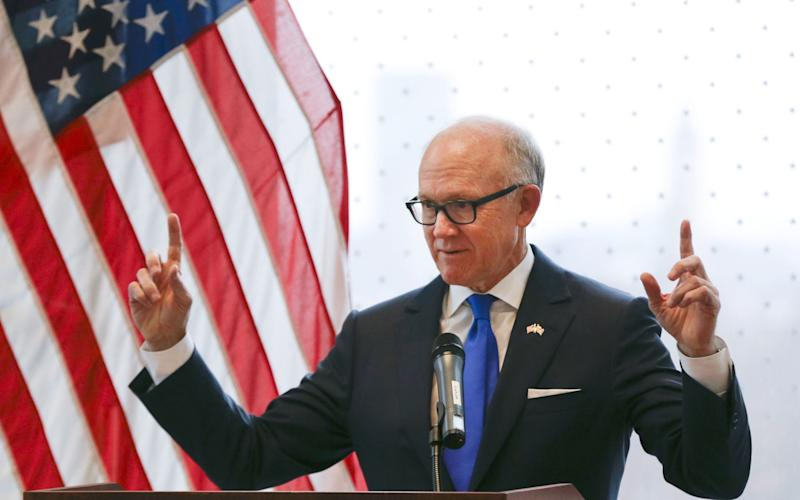 """Woody Johnson has been accused of making """"inappropriate or insensitive comments"""" - ALASTAIR GRANT/AFP"""