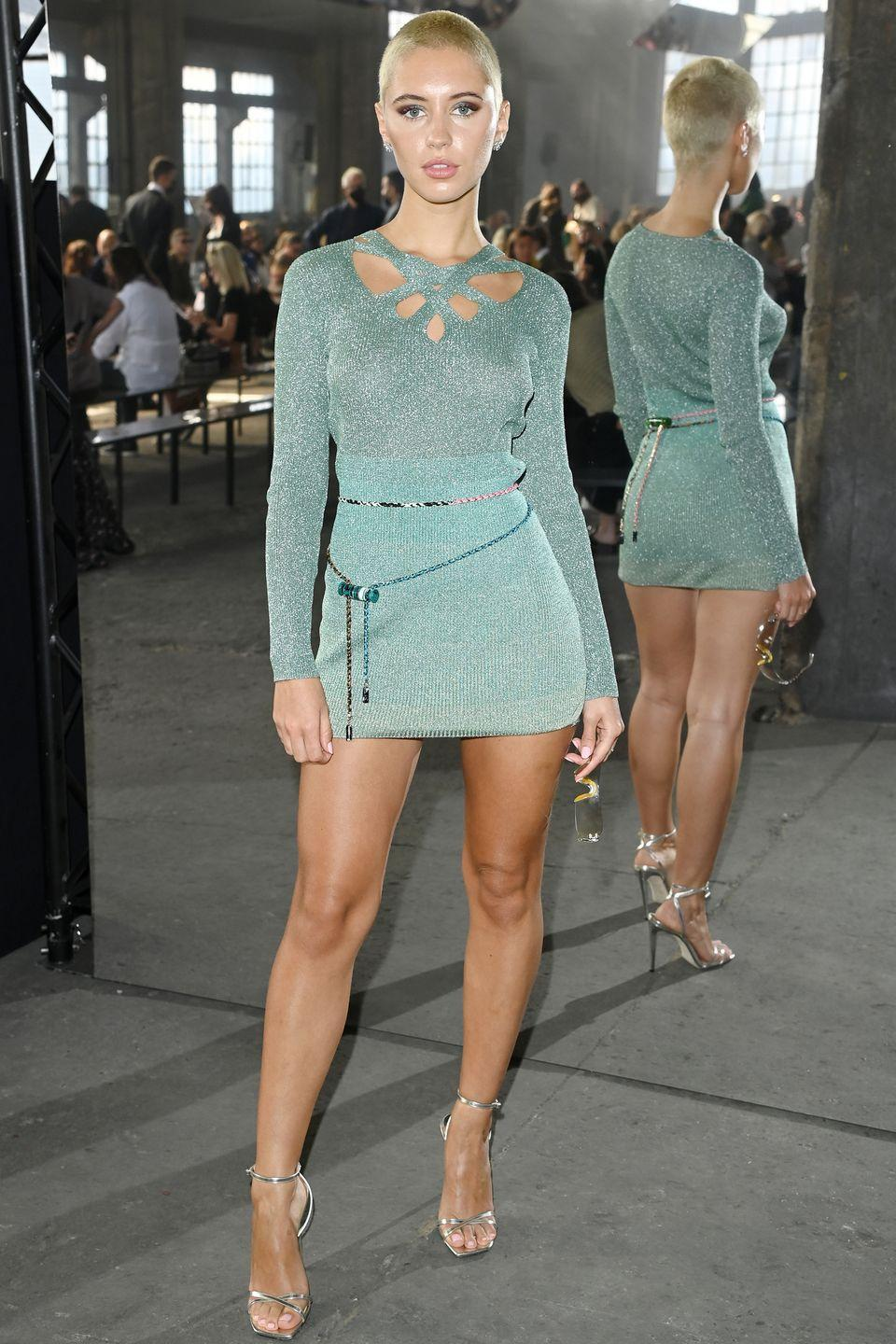 <p><strong>24 September</strong></p><p>Iris Law posed at the Missoni show. </p>