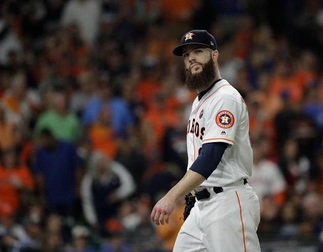 Dallas Keuchel will throw 90 or so pitches in game-like conditions on Tuesday. (AP)