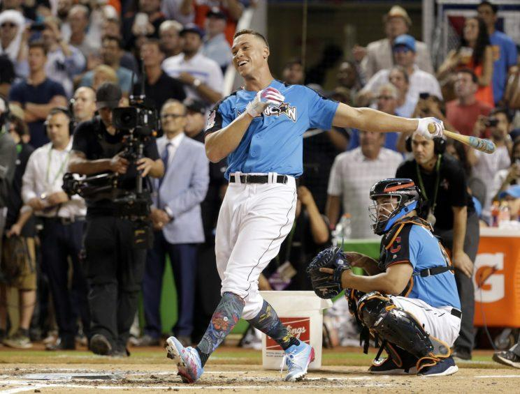 Aaron Judge put on a show during the Home Run Derby. (AP)