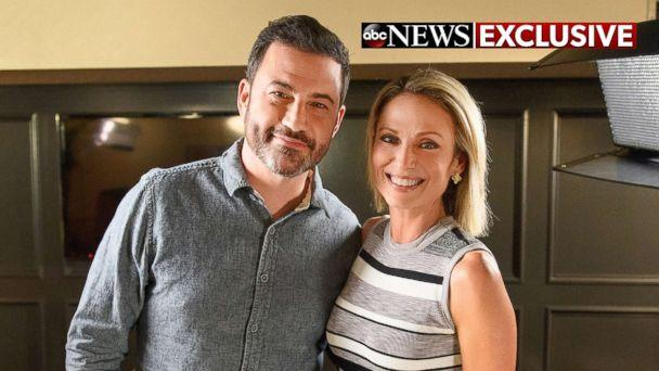 PHOTO: Comedian Jimmy Kimmel opens up about his new shows in Brooklyn in an interview with ABC News' Amy Robach, Oct. 13, 2017. (ABC/Todd Wawrychuk)
