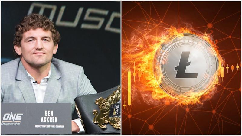 UFC fighter Ben Askren is a Litecoin disciple, and he's the first one to celebrate as the LTC price once again surpasses the $100 threshold. | Source: (i) Shutterstock (ii) Shutterstock; Edited by CCN