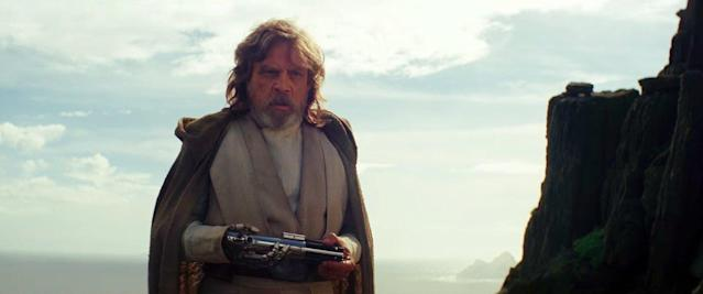 Mark Hamill as Luke Skywalker in <em>The Last Jedi </em>(Disney)