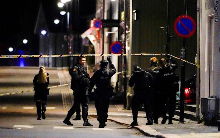Police officers investigate after several people were killed and others were injured by a man using a bow and arrows to carry out attacks - REUTERS
