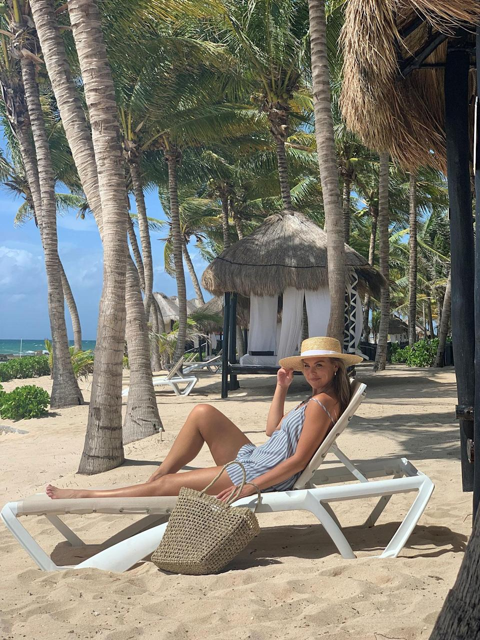 <p><strong>Location:</strong> Riviera Maya, Mexico </p> <p>Former <em>Bachelorette</em> and<em> Dancing with the Stars</em> competitor Hannah Brown hit the beach on Mexico's Riviera Maya with friends and fellow Bachelor Nation alums Demi Burnett and Heather Martin. The trio went sailing on a catamaran and took an ATV ride around the luxury property.</p>