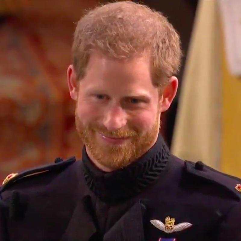 Just 1 Second After Prince Harry Saw Meghan Markle For the First Time, His Huge Smile Took Over