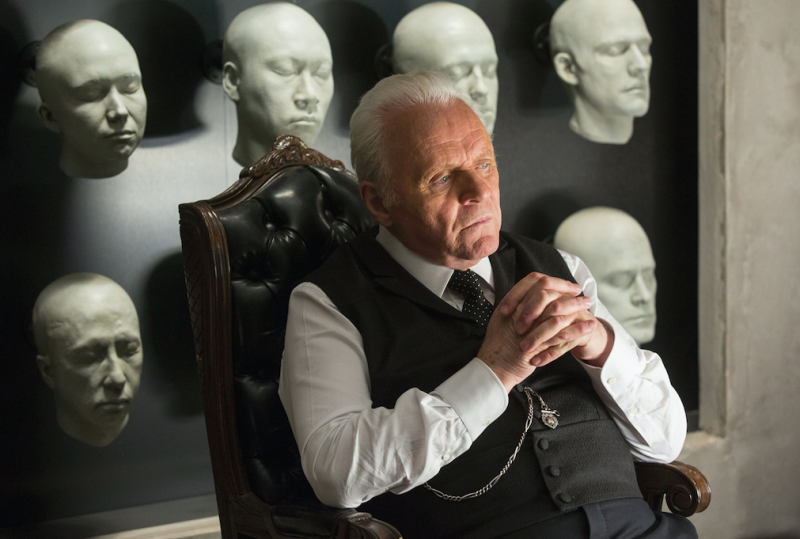 Anthony Hopkins in Westworld (Picture: Rex)