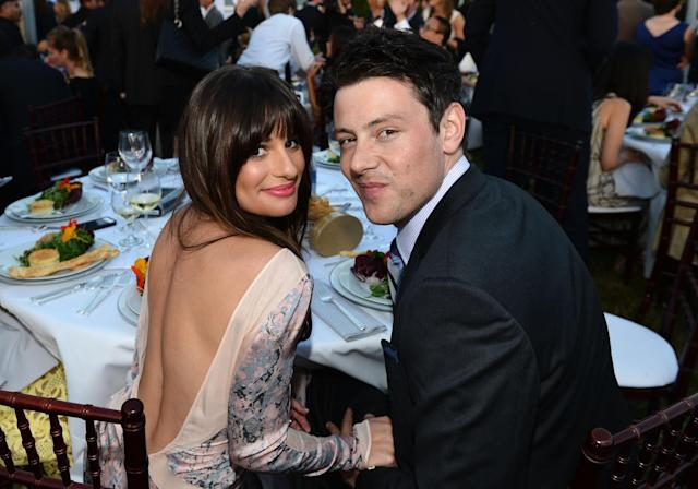 LOS ANGELES, CA - JUNE 09: Actors Lea Michele and Cory Monteith inside the 11th Annual Chrysalis Butterfly Ball sponsored by Audi, Grey Goose, Kayne Anderson and smartwater on June 9th, 2012 (Photo by Michael Buckner/Getty Images For Chrysalis)
