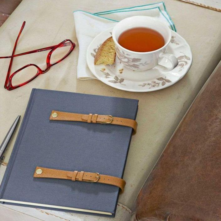 """<p>If you have an old watch lying around, use the straps to add some style to a notebook or planner that he can use at work.</p><p><em>Get the tutorial at <a href=""""https://www.countryliving.com/diy-crafts/g1171/gift-ideas-for-dad/"""" rel=""""nofollow noopener"""" target=""""_blank"""" data-ylk=""""slk:Country Living"""" class=""""link rapid-noclick-resp"""">Country Living</a>.</em></p>"""