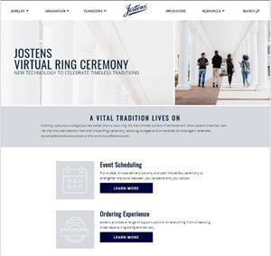A Virtual Ring Ceremony on-line portal is one of the latest digital offerings from Jostens, helping colleges preserve important school traditions virtually.