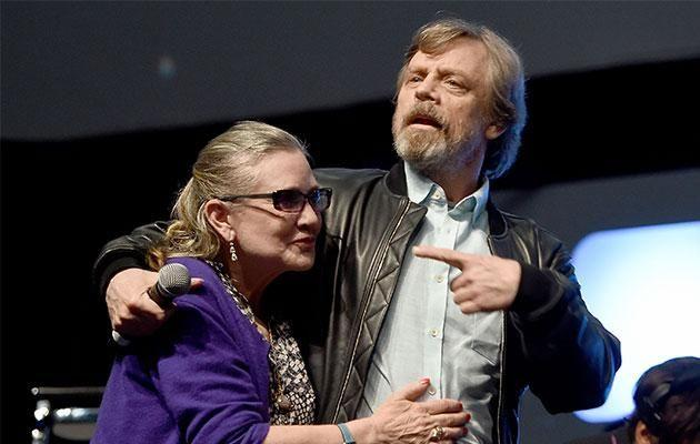 Carrie and co-star Mark Hamill. Photo: Getty Images