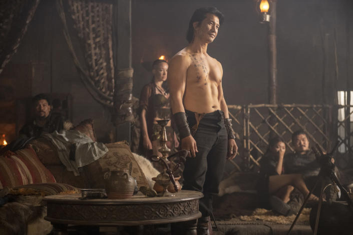 """This image released by Cinemax shows Dustin Nguyen in a scene from the drama series """"Warrior."""" The historical drama, inspired by Bruce Lee's original idea, premieres its second season on Friday. (Cinemax via AP)"""