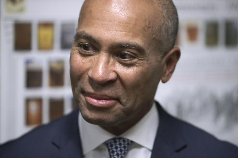 Democratic presidential candidate former Massachusetts Gov. Deval Patrick files to have his name listed on the New Hampshire primary ballot, Nov. 14, in Concord, N.H. (Photo: Charles Krupa/AP)