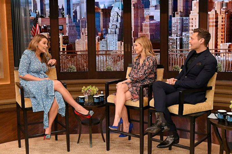 From L to R: Blake Lively, Kelly Ripa and Ryan Seacrest
