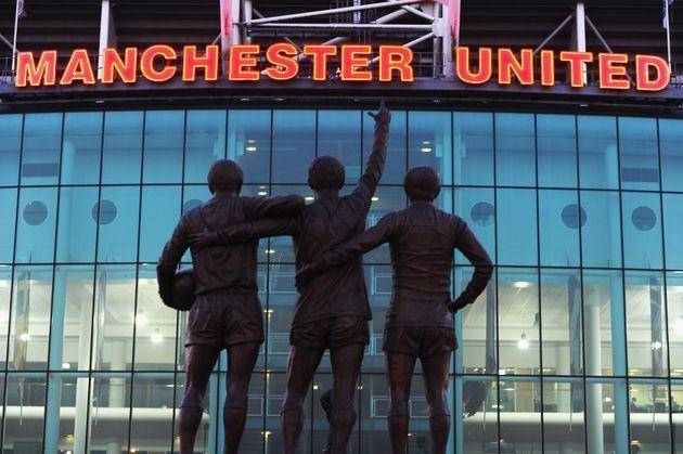MANCHESTER, UNITED KINGDOM - MARCH 02:  A statue of George Best, Denis Law and Bobby Charlton standing outside Old Trafford, home of Manchester United on March 2, 2011 in Manchester, England.  (Photo by Mike Hewitt/Getty Images) (Photo: Mike Hewitt via Getty Images)