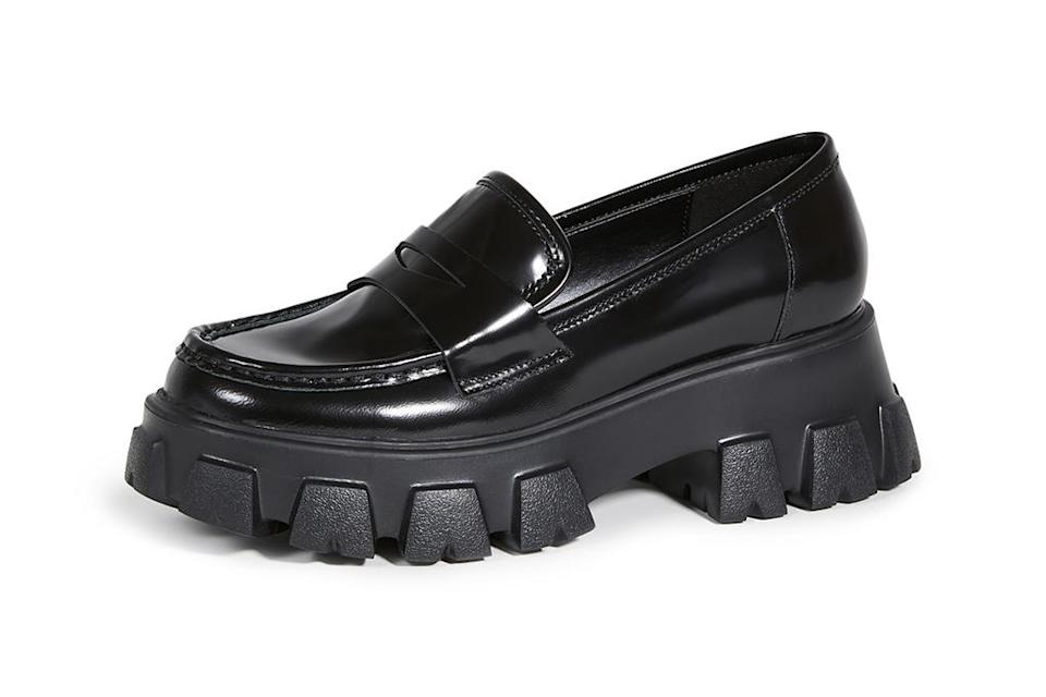 chunky black shoes, chunky loafers, chunky shoes