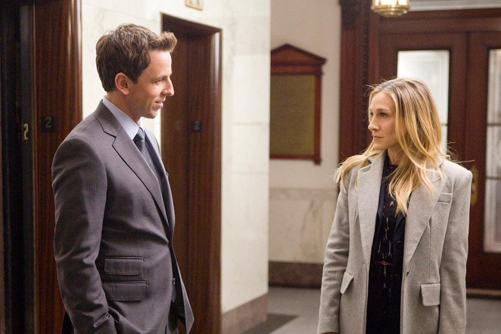 """<a href=""""http://movies.yahoo.com/movie/contributor/1807834671"""">Seth Meyers</a> and <a href=""""http://movies.yahoo.com/movie/contributor/1800016083"""">Sarah Jessica Parker</a> in Weinstein Company's <a href=""""http://movies.yahoo.com/movie/1810195522/info"""">I Don't Know How She Does It</a> - 2011"""