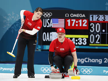 Winter Olympics 2018: Curling gets Pyeongchang Games underway as USA thump Russian mixed doubles team