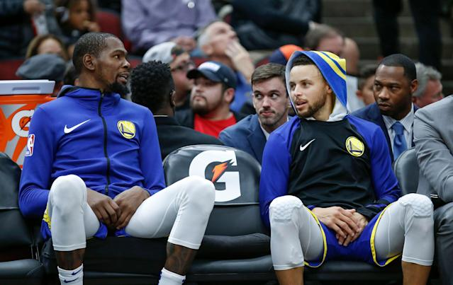 We've really reached the point of questioning whether or not Kevin Durant brings value to a title favorite. (AP Photo/Kamil Krzaczynski)