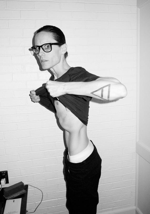 Jared Leto took a leaf out of Christian Bale's book this year losing a scary amount of weight for his role in film The Dallas Buyers Club. [Copyright: Terry Richardson/Terrysdiary.com]