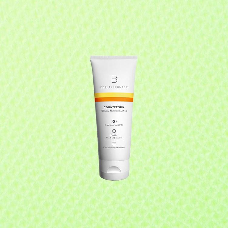 """<p>This zinc oxide–based broad-spectrum sunscreen does the work of deflecting harmful UVA and UVB rays without making you look ghostly white (as mineral sunscreens tend to do), which testers appreciated. A little goes a long way, and you can work just a little bit of this stuff into skin at a time to get good coverage. See the full ingredient list <a href=""""https://www.beautycounter.com/product/countersun-mineral-sunscreen-lotion-spf-30"""">here</a>.</p> <p><strong>Bonus Points, Per the Experts:</strong>  This product uses zinc oxide as a sunscreen, which is what the derms suggesed you look for.</p> <p><strong>Review:</strong> """"I really loved this one! I used this sunscreen for about four days under my makeup while I was on vacation. I used very little of it as I know sunscreens tend to come off white or chalky on people of color but this one surprisingly didn't. It also has a great scent and is lightweight.""""</p> <p><strong>Buy It:</strong> $39, <a href=""""https://www.beautycounter.com/product/countersun-mineral-sunscreen-lotion-spf-30"""" rel=""""nofollow"""">beautycounter.com</a></p>"""