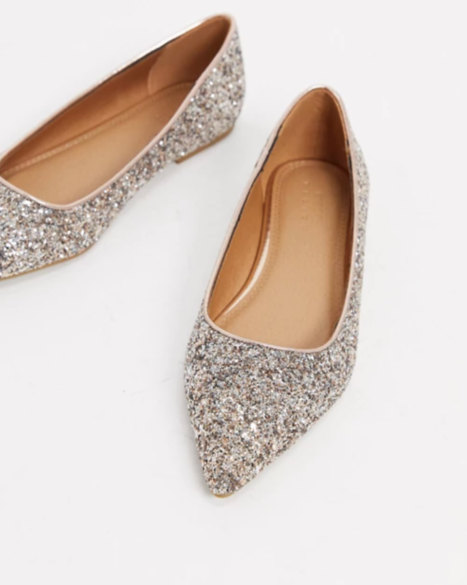 ASOS DESIGN 'Lucky' Pointed Ballet Flats (Photo via ASOS)