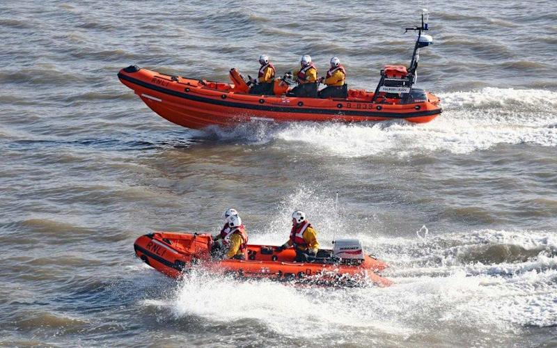 Hundreds of volunteers joined the RNLI in the search for the two women - Nicholas Leach/RNLI