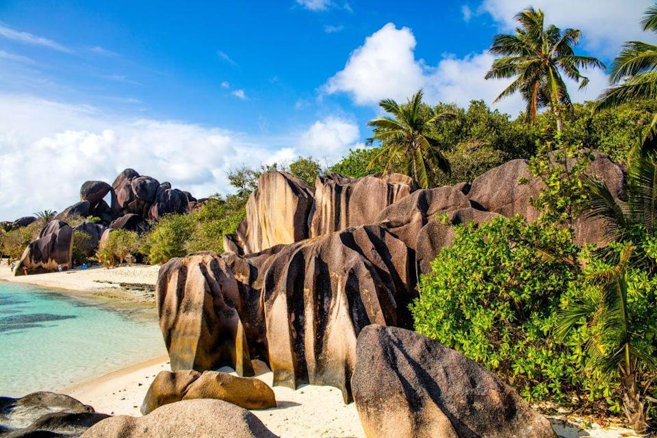 <p>There are too many beautiful white sand beaches in Seychelles to even count, but Source d'Argent on La Digue is known for being one of the best.</p>