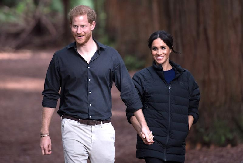 """Technically, the royal family's last name is Mountbatten-Windsor, but it's rare for the members of the family to use that surname in day-to-day life. Prince WilliamandPrince Harrywent by William Wales and Harry Wales during their own school days, as well as their years in the armed forces. Why? Because their father,<a rel=""""nofollow"""" href=""""https://people.com/tag/prince-charles/"""">Prince Charles</a>, is the Prince of Wales. It's an homage to their father's title, for occasions when """"Prince"""" just feels a bit too formal.  Similarly,<a rel=""""nofollow"""" href=""""https://people.com/royals/what-prince-georges-classmates-will-call-him-at-school-and-the-last-name-hell-use/"""">Prince George is known as """"George Cambridge"""" at school</a>.  Since Harry and Meghan's royal titles are the Duke and Duchess of Sussex, their child will likely use that as their last name in such occasions."""