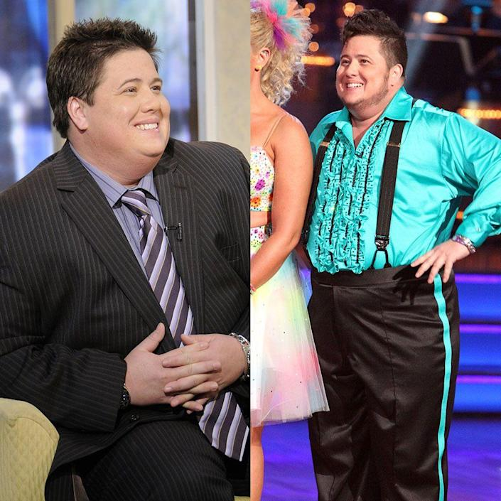 """<p>Chaz Bono received lots of criticism during his time on <em>Dancing With the Stars</em>, but he came out on top with partner Lacey Schwimmer. She said at rehearsals that her partner was losing up to a pound a day, per <em><a href=""""https://people.com/tv/dancing-with-the-stars-contestant-chaz-bono-losing-weight/"""" rel=""""nofollow noopener"""" target=""""_blank"""" data-ylk=""""slk:People"""" class=""""link rapid-noclick-resp"""">People</a></em>. """"He says he's not eating any differently, he's just dancing,"""" Lacey added.</p>"""