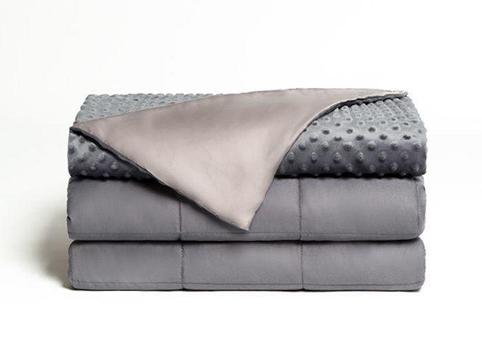 """<p><strong>Dual Therapy</strong></p><p>brooklynbedding.com</p><p><strong>$139.00</strong></p><p><a href=""""https://go.redirectingat.com?id=74968X1596630&url=https%3A%2F%2Fwww.brooklynbedding.com%2Fproducts%2Fblankets%2Fdual-therapy-weighted-blanket%2F&sref=https%3A%2F%2Fwww.housebeautiful.com%2Fshopping%2Fhome-accessories%2Fg23365960%2Fweighted-blanket-for-adults%2F"""" rel=""""nofollow noopener"""" target=""""_blank"""" data-ylk=""""slk:BUY NOW"""" class=""""link rapid-noclick-resp"""">BUY NOW</a></p><p>""""I have used other weighted blankets in the past, but this one caught up my eye due to the cool side that is promoted. The cool side is awesome. It is a great blanket for hot or cold sleepers—I don't think I am ever going back to my old weighted blanket!"""" — <a href=""""https://go.redirectingat.com?id=74968X1596630&url=https%3A%2F%2Fwww.brooklynbedding.com%2Fproducts%2Fblankets%2Fdual-therapy-weighted-blanket%2F&sref=https%3A%2F%2Fwww.housebeautiful.com%2Fshopping%2Fhome-accessories%2Fg23365960%2Fweighted-blanket-for-adults%2F"""" rel=""""nofollow noopener"""" target=""""_blank"""" data-ylk=""""slk:Susan K."""" class=""""link rapid-noclick-resp"""">Susan K.</a> </p>"""