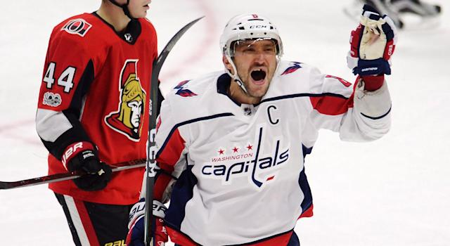 Alex Ovechkin began the season with a hat trick for the first time in his spectacular career. THE CANADIAN PRESS/Adrian Wyld