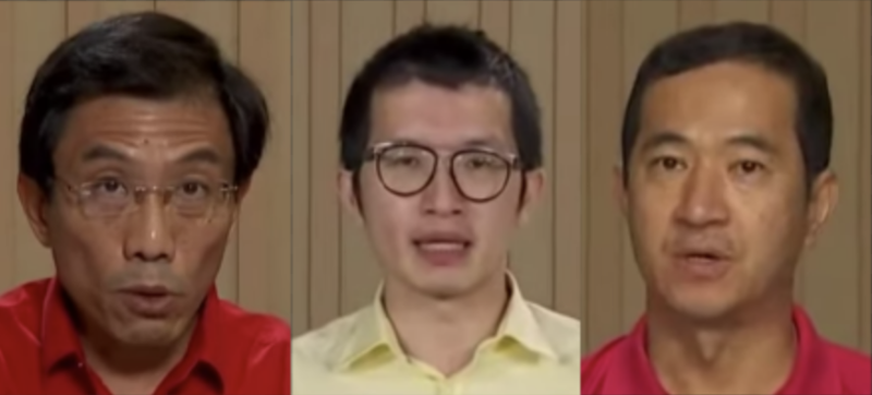 (SCREENSHOTS L to R: Singapore Democratic Party Chee Soon Juan, Reform Party Charles Yeo and Singapore People's Party Steve Chia speaking at a constituency political broadcast on 3 July 2020/Mediacorp YouTube channel)
