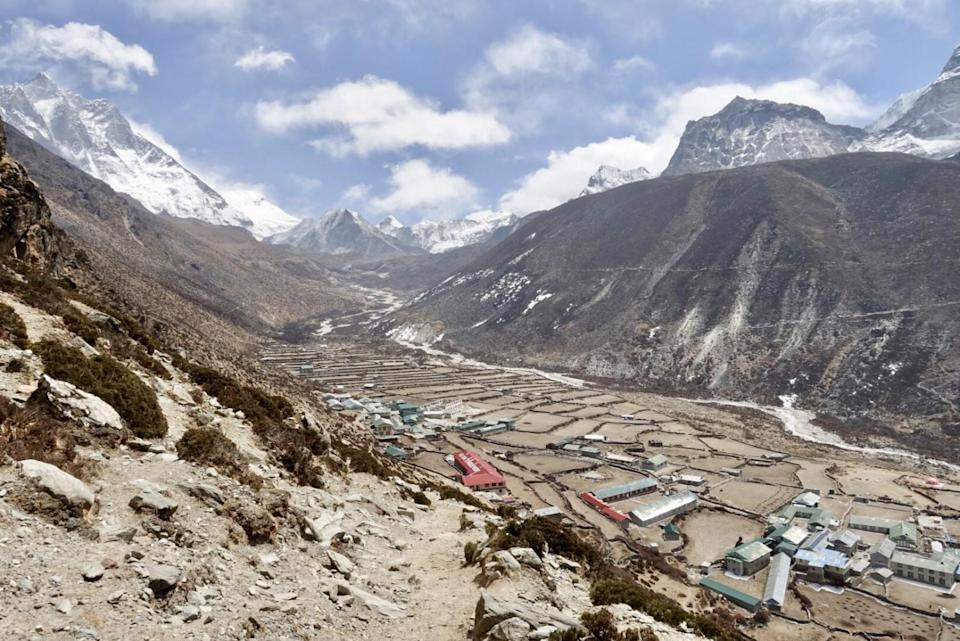 The village of Dingboche , between Namche Bazaar and Everest Base Camp