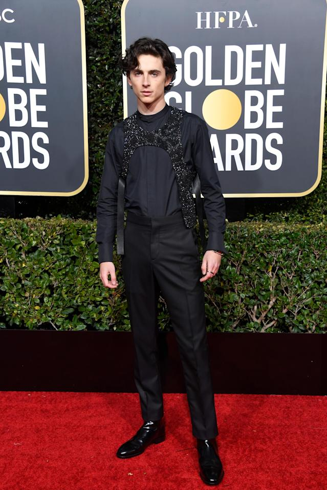 Timothée Chalamet at the 76th Annual Golden Globe Awards on January 6, 2019. [Photo: Getty]