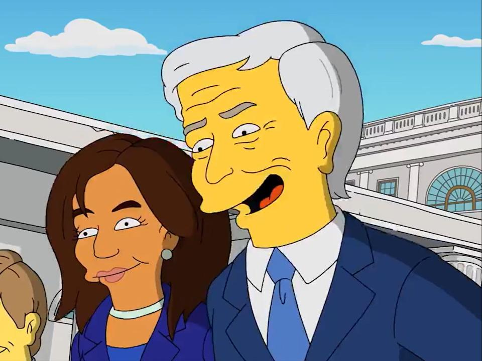 The Simpsons apparently predicted the Biden-Harris ticket back in 2019 (Fox)
