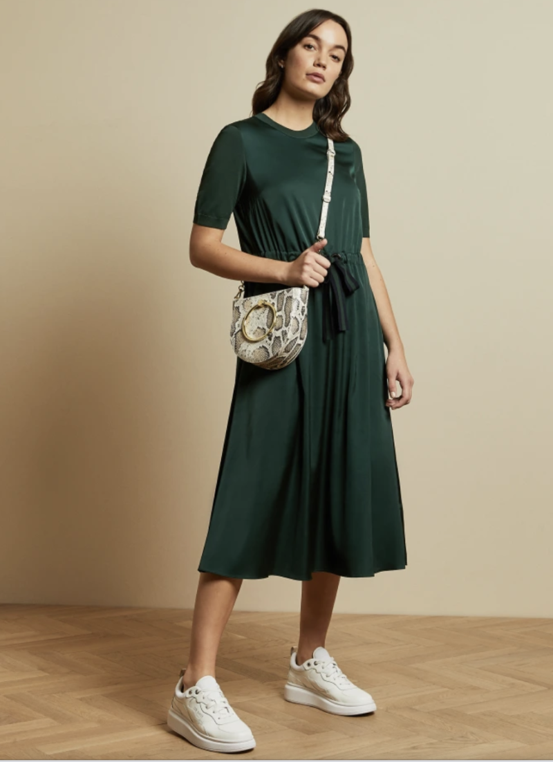 Midi drawstring waist dress, £113 (was £189). PHOTO: Ted Baker