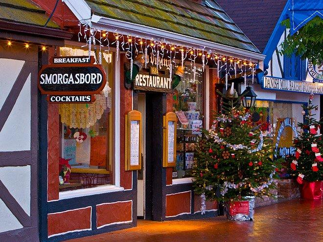 """Michigan has """"Little Bavaria"""" – California has """"Little Denmark."""" The quaint destination leaves its Christmas lights up all year and is packed with unique specialty shops and tasty Danish treats that make perfect gifts any time, any season."""