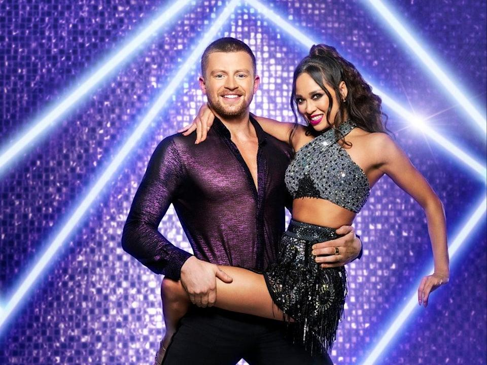 Adam Peaty at the launch show of Strictly Come Dancing 2021 (PA)