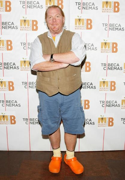 "Chef Mario Batali attends a screening of ""Fantastic Mr. Fox"" and party to benefit the Mario Batali Foundation at Tribeca Cinemas on November 8, 2009 in New York City"