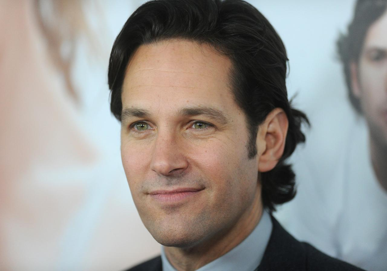 "HOLLYWOOD, CA - DECEMBER 12:  Actor Paul Rudd attends the premiere Of Universal Pictures' ""This Is 40"" at Grauman's Chinese Theatre on December 12, 2012 in Hollywood, California.  (Photo by Jason Merritt/Getty Images)"