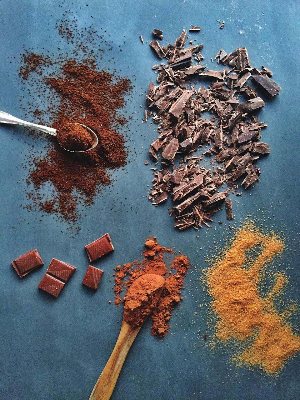"""<p>Use dark or semisweet chocolate, which will have less sugar than the milk or white kind. """"Brands like Lily's make tasty chocolate using stevia,"""" Shaw says. Don't forget that too much of the sweet stuff can cause weight gain and mess with your blood sugar, both linked to heart disease.</p>"""