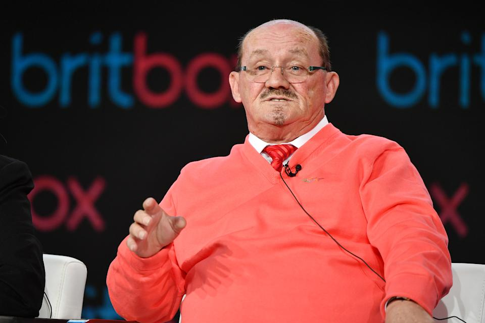"Brendan O'Carroll of ""Mrs. Brown's Boys"" speaks during the Britbox segment of the 2020 Winter TCA Press Tour  at The Langham Huntington, Pasadena on January 14, 2020 in Pasadena, California. (Photo by Amy Sussman/Getty Images)"