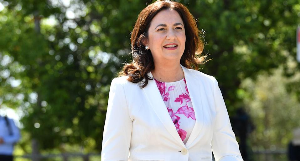Pictured is Queensland Premier Annastacia Palaszczuk who announced Sydneysiders will be allowed into her state.