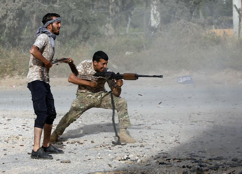 The battle for control of the Libyan capital has so far left more than 260 dead and wounded more than 1,200 others, according to the World Health Organization (AFP Photo/Mahmud TURKIA)