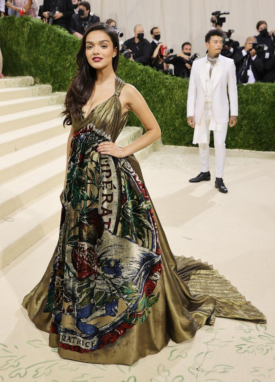 """<h1 class=""""title"""">Rachel Zegler, The 2021 Met Gala Celebrating In America: A Lexicon Of Fashion - Arrivals</h1><cite class=""""credit"""">Getty</cite>"""