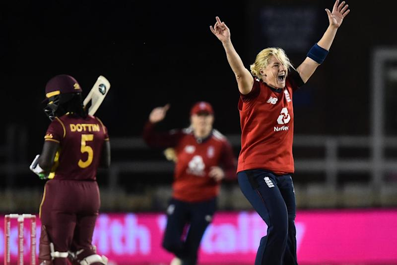 Katherine Brunt's excellent bowling then ensured England returned to action with an impressive victory (Getty Images)