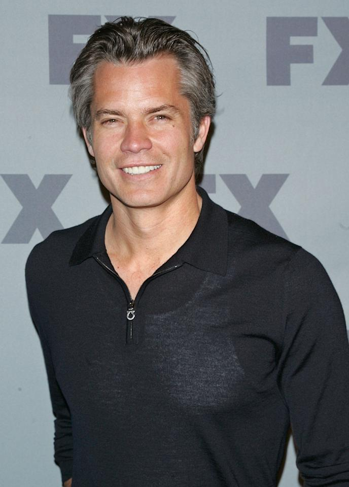 """Timothy Olyphant (""""<a href=""""http://tv.yahoo.com/justified/show/45070"""">Justified</a>"""") attends FX's 2012 Upfronts at Lucky Strike on March 29, 2012 in New York City."""