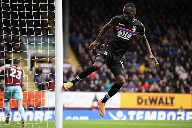 Christian Benteke hits the post – it's been a miserable time in front of goal for Palace